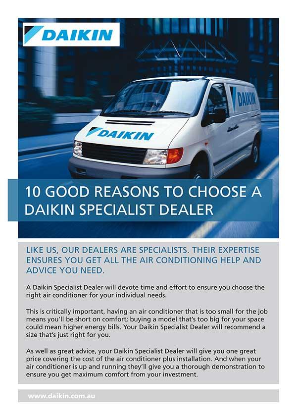 RCS-Air - Daikin Air Conditioners - 10 Good Reasons to choose a Daikin Specialist Dealer