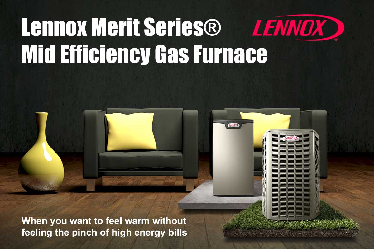 Lennox Merit Series Mid Efficiency Gas Furnace