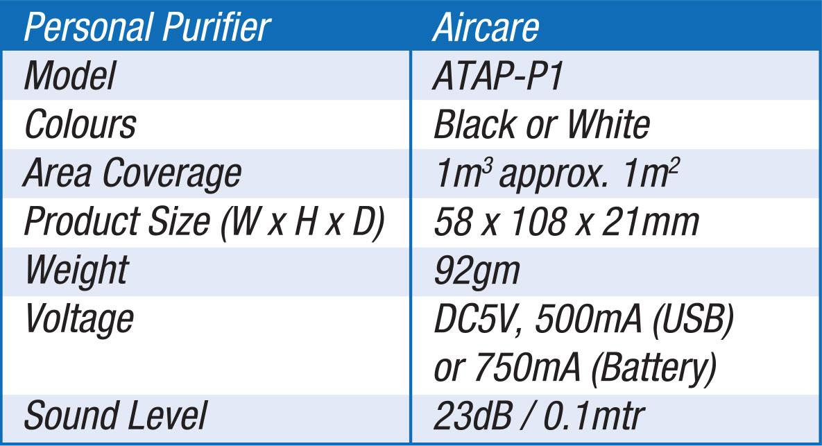 POWER PureAir Air Steriliser for Personal Use